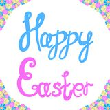 Inscription of happy easter. Vector illustration of an inscription of happy easter Royalty Free Stock Image