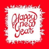 The inscription of a happy new year against the red background. The inscription of a happy new year against the background vector illustration