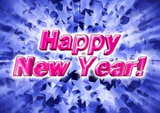 The inscription Happy New Year in 3d on the background consistin Royalty Free Stock Photo