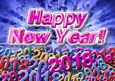 The inscription Happy New Year in 3d on the background consistin Royalty Free Stock Photography