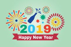 Picture for the New Year. stock images