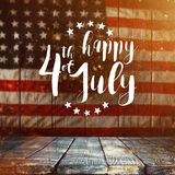 Inscription Happy 4th of July with USA flag. National day stock photo