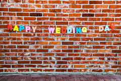 Inscription Happy Wedding Day by individual letters Royalty Free Stock Photography