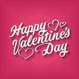 Inscription heureuse de dessin de main de jour de valentines Photos stock