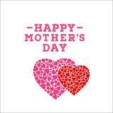 Inscription heureuse de jour du ` s de mère sur le fond blanc Calibre de design de carte de salutation de célébration illustration de vecteur
