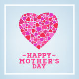 Inscription heureuse du jour de mère sur le fond mou brouillé Calibre de design de carte de salutation de célébration illustration libre de droits