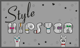 Inscription Hipster style Royalty Free Stock Image