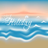 Inscription holiday on an abstract background. Of the dawn of the mesh Stock Photo