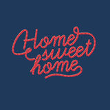 The inscription home sweet home. The inscription home sweet home on the background Stock Photo