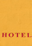 Inscription hotel Royalty Free Stock Images