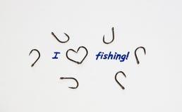 Inscription - I love fishing. Royalty Free Stock Photo