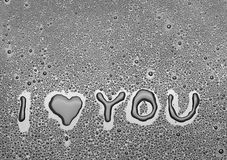 Inscription I love you Stock Photos