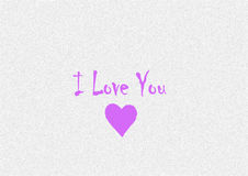 The inscription `I love you` Royalty Free Stock Photography
