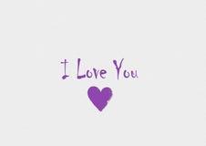 The inscription `I love you` royalty free illustration