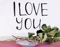 The inscription `I love you` stock photos