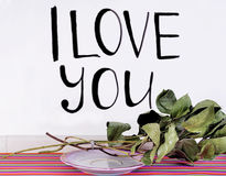 The inscription `I love you` Stock Image