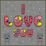 Inscription I love you - for gay men royalty free stock photography