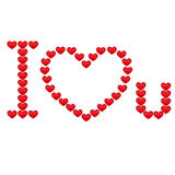 Inscription I love you. Vector illustration Stock Photo