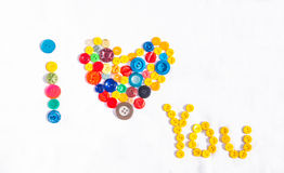 Inscription: I love you Royalty Free Stock Images
