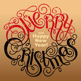 Inscription - Joyeux Noël et bonne année illustration de vecteur