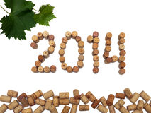 Inscription 2014 laid out the wine corks Stock Images