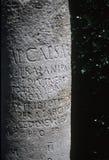 Inscription latine sur le vieux fléau romain image libre de droits