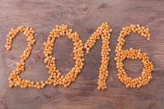 2016 inscription of lentils Stock Images
