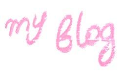 Inscription lipstick Stock Image