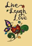 Inscription Live Laugh Love vector illustration