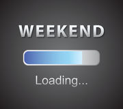 Inscription loading Weekend concept illustration background. Inscription loading Weekend concept illustration Inscription loading Weekend concept illustration stock illustration