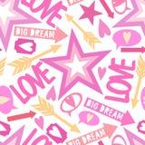 Inscription love, big dream Stock Photo