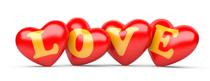 Inscription love and heart Stock Images