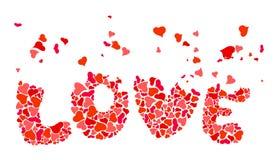 Free Inscription Love Of Heart Shapes Stock Photo - 44887400