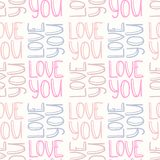 Inscription LOVE YOU seamless pattern Royalty Free Stock Image