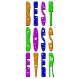 Inscription lumineuse de la meilleure couleur de patron jamais - illustration libre de droits
