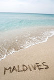 Inscription Maldives Photos libres de droits