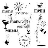 Inscription menu set Royalty Free Stock Images