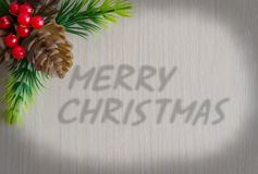 The Inscription Merry Christmas. Background - wood texture royalty free stock photo