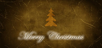 Inscription Merry Christmas with Christmas Tree Stock Image