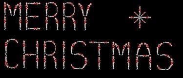 Inscription Merry Christmas Stock Photo