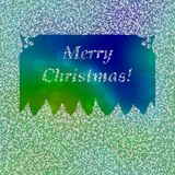 Inscription Merry Christmas in frame composed of snowflakes Royalty Free Stock Photo