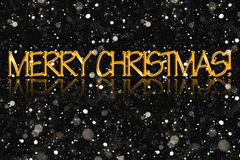 The inscription Merry Christmas, golden color. Royalty Free Stock Image