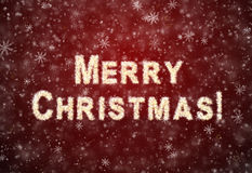 Inscription Merry Christmas Royalty Free Stock Photography
