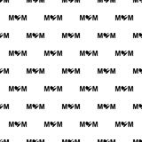 Inscription mom icon in Pattern style. On white background Royalty Free Stock Photo