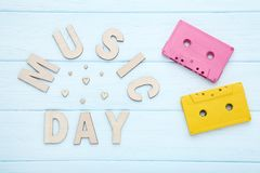 Inscription Music Day stock photo