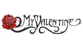 The inscription My Valentine to create a greeting card for a person named Valentine. stock illustration