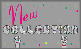 Inscription New Collection. Vector Illustration royalty free stock images