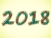 Inscription 2018 consisting of multi-colored butterflies. Inscription 2018 new year, consisting of multi-colored butterflies Stock Photos