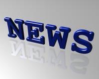 Inscription  news Stock Photography