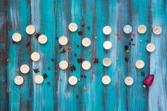 Inscription - 2017 nouvelles années faites de bougies brûlantes Photographie stock